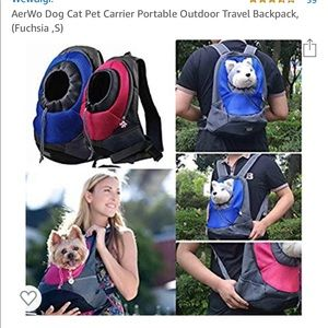 New Aerwo pet/ dog carrier in Fuschia.